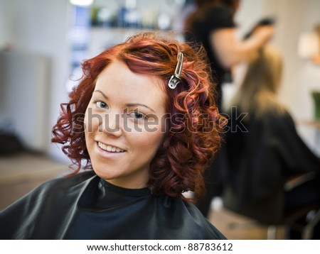 Portrait of a woman in Beauty spa - stock photo