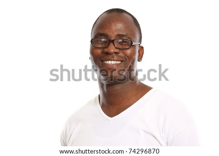 Portrait of a young african american - stock photo