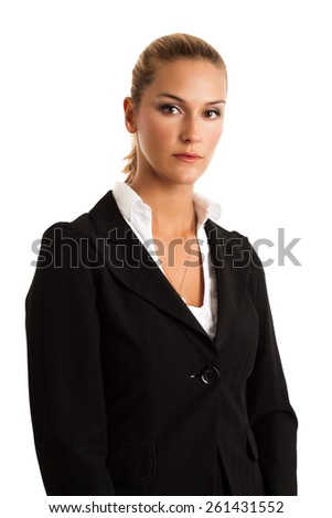 Portrait of a young attractive businesswoman - stock photo