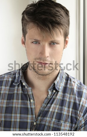 Portrait of a young attractive casual man - stock photo