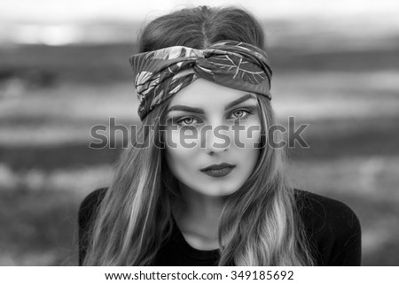 portrait of a young beautiful girl - stock photo