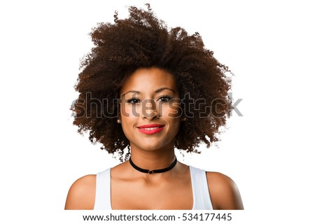 Foto Stock De Portrait Young Black Woman Editar Agora 534177445