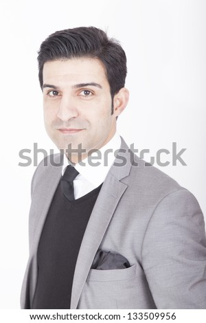 Portrait of a young business executive. - stock photo