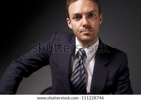 Portrait of a young businessman. - stock photo