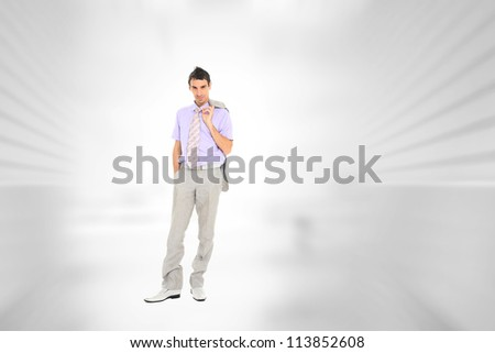 Portrait of a  young businessman, at corporate