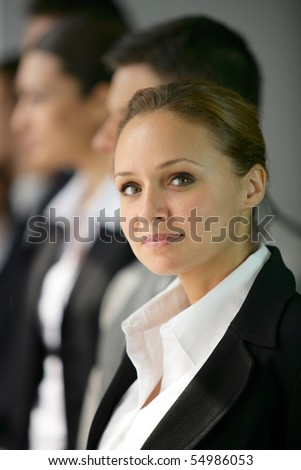 Portrait of a young businesswoman - stock photo