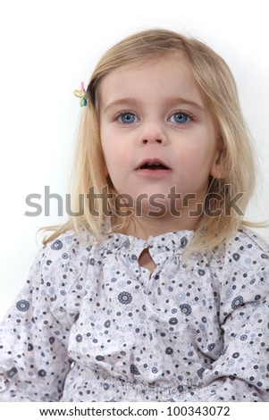 Portrait of a young child - stock photo