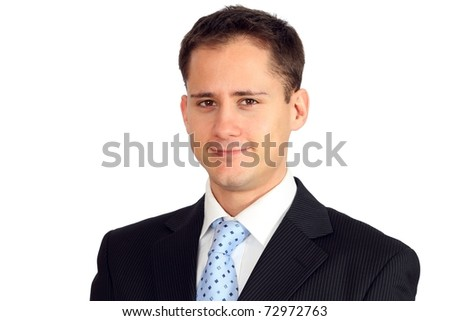 Portrait of a young handsome man in a suit