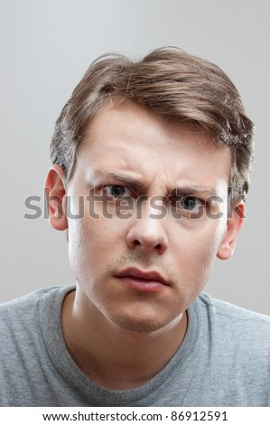 portrait of a young man - stock photo