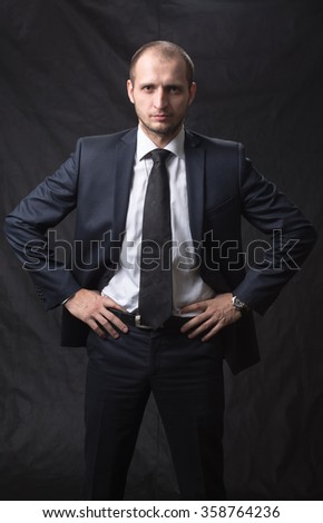 Portrait of a young man in a tie - stock photo