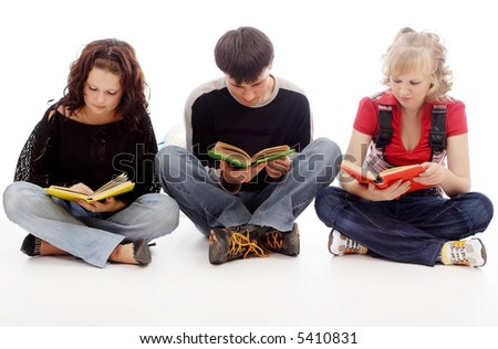 Portrait of a young people.Education background. - stock photo