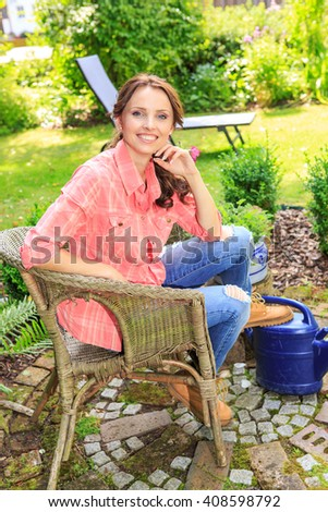 portrait of a young woman in the garden