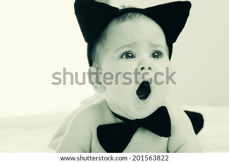 Portrait of aborable baby  - stock photo