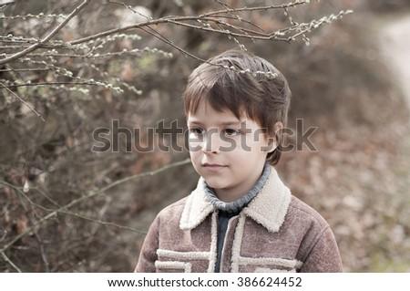portrait of adorable child - stock photo