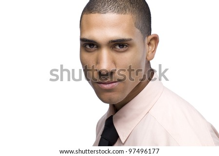 Portrait of African American adult businessman