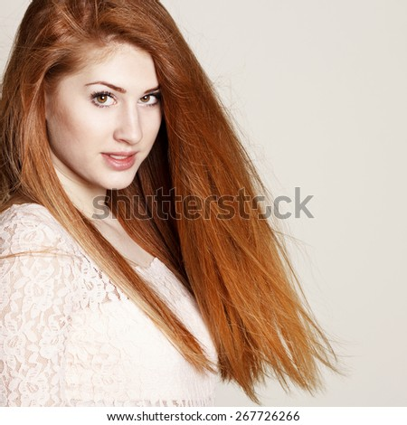 Portrait of amazingly sexy beautiful young brunette woman saying shh - stock photo