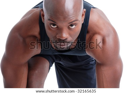 Portrait of an active African American - stock photo
