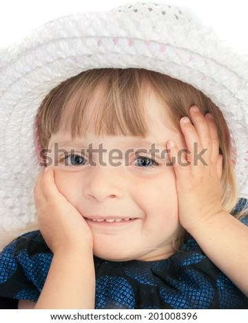 Portrait of an adorable two year old baby girl.  - stock photo