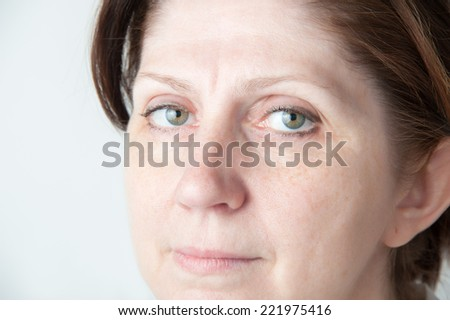 Portrait of an adult woman. Natural beauty. Closeup. - stock photo