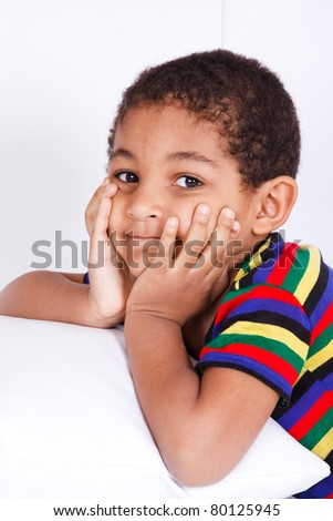 Portrait of an african american boy - stock photo