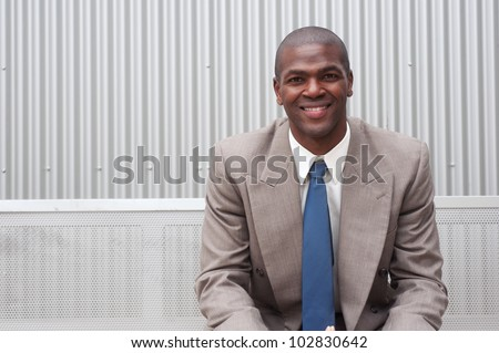 portrait of an African American businessman taken on location