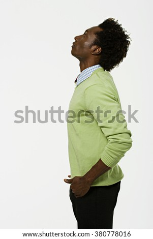 Portrait of an African American man - stock photo