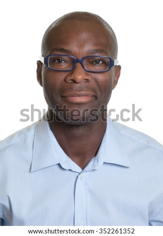 Portrait of an african american man with glasses - stock photo