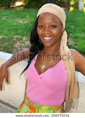 Portrait of an african woman     - stock photo