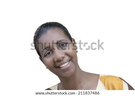 Portrait of an Afro beauty (mid-adult woman) - stock photo