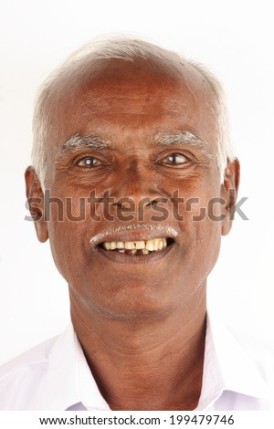 Portrait of an Asian senior. - stock photo