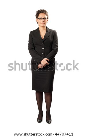 Portrait of an attractive businesswoman, studio shot - stock photo
