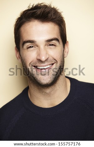 Portrait of an attractive man - stock photo