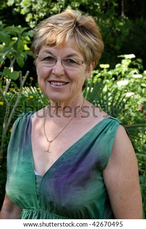 Portrait of an attractive mature woman in her 50s.