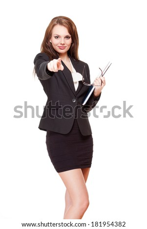 Portrait of an attractive young brunette businesswoman.