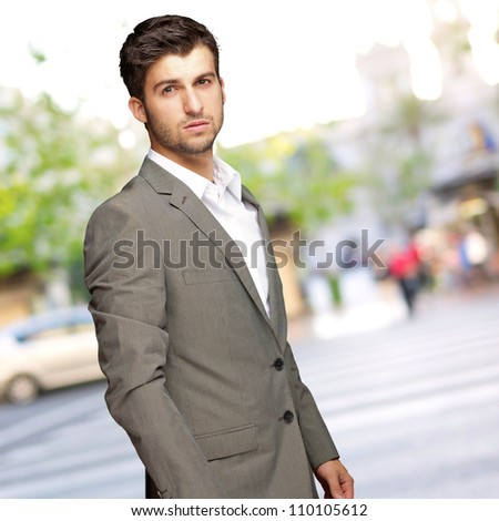 Portrait Of An Businessman, Outdoor - stock photo