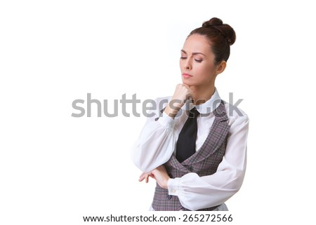 Portrait of an confident businesswoman . This photo has been produced with these professionals : make-up artist, hair dresser and stylist.  - stock photo