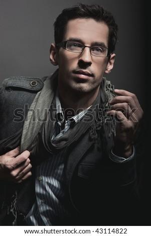 Portrait of an elegant businessman - stock photo