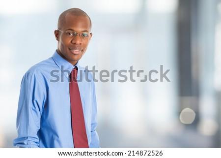 Portrait of an handsome black businessman - stock photo
