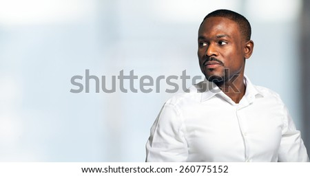 Portrait of an handsome man. Very large copyspace - stock photo