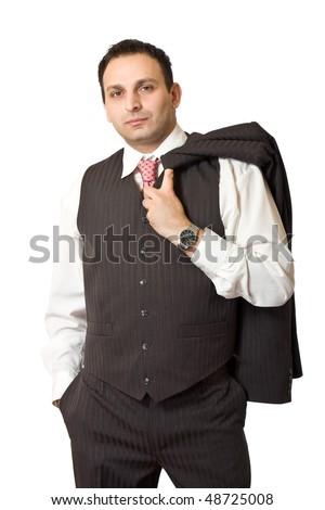 portrait of an indian businessman - stock photo