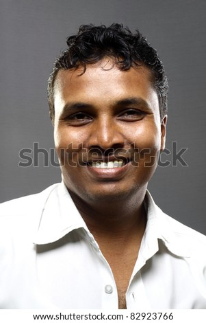 Portrait of an Indian young man