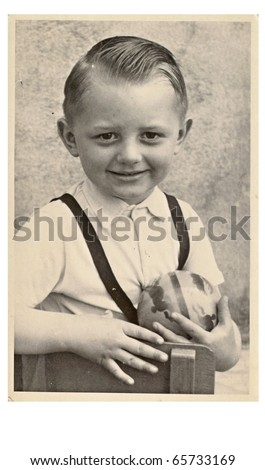 portrait of an young boy - year 1950