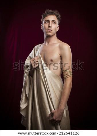 portrait of ancient roman man - stock photo