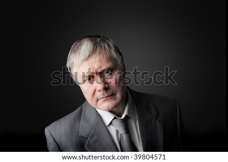portrait of angry businessman - stock photo