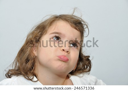 Pouting Baby Angry Portrait of Angry Pouting And