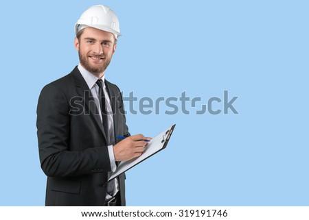 Portrait Of Architect Man - stock photo