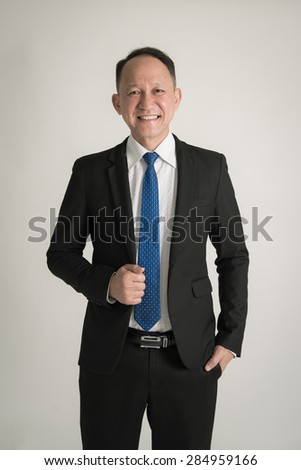 Portrait of Asian business man - stock photo