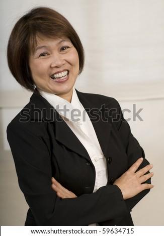 Portrait of Asian businesswoman - stock photo