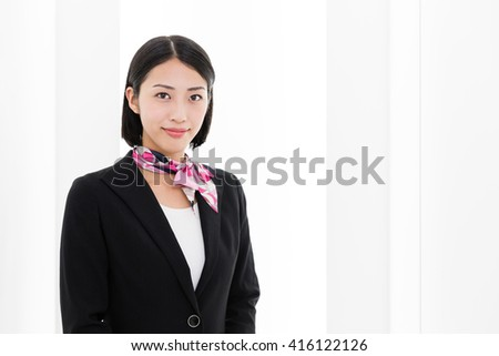 portrait of asian businesswoman in the office - stock photo