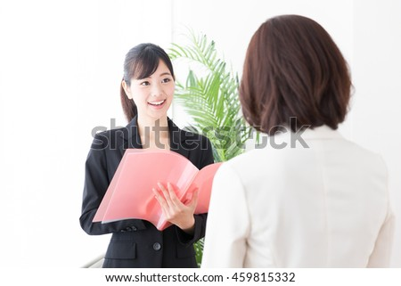 portrait of asian businesswomen in the office
